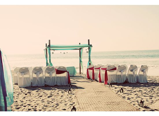 destination wedding ceremony beach
