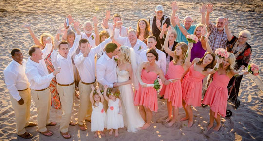 group travel beach weddings