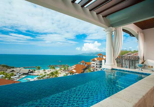 sandals grenada infinity pool balcony skypool