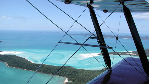 Whitehaven Scenic Flight by Whitsunday Tiger Moth Adventures
