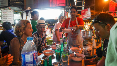 Yaowarat Night Food Walk by Bangkok Food Tours