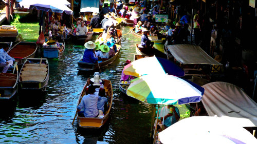 Floating Markets Boat Ride & Bicycle Tour