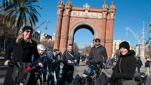 Gaudi City Tour by Electronic Bike