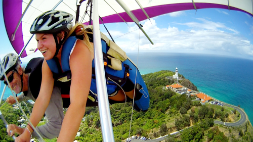 Tandem Hang Gliding Flight by Seabreeze Hang Gliding