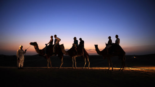 4x4 Desert Safari with Dune Bashing, Sandboarding & Camel Ride