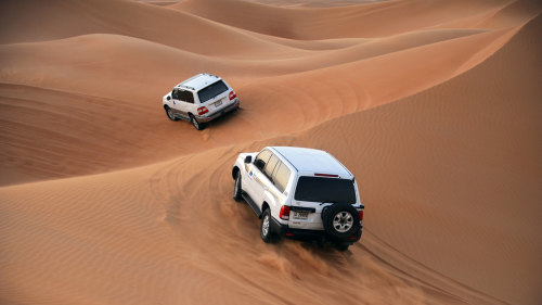 4x4 Sunset Desert Safari with BBQ Dinner by Alpha Tours