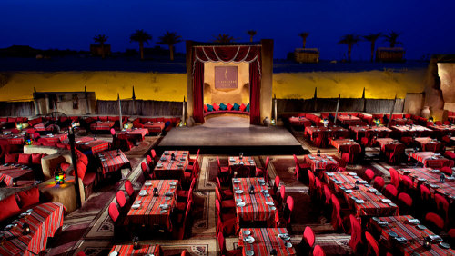 Dinner at Al Hadheerah Desert Restaurant with Live Folklore Show