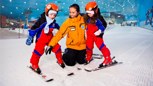 Ski or Snowboard Lesson at Ski Dubai