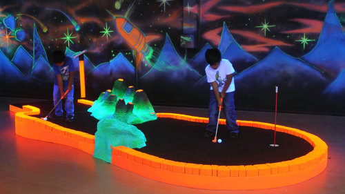Glow-in-the-Dark Miniature Golf