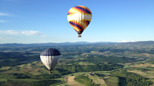 Hot Air Balloon Flight over Tuscany