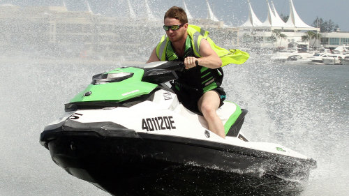 Jet Ski Safari with a Stop on South Stradbroke Island