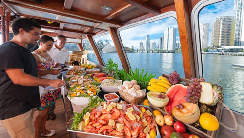Noon River Cruise with Lunch Buffet by Wyndham Cruises