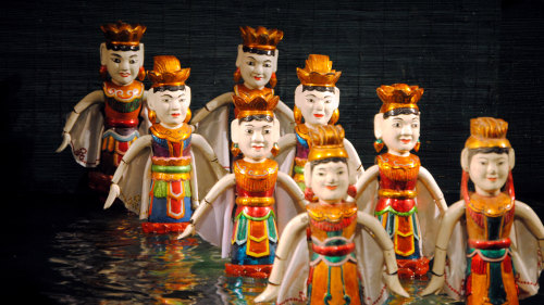 Night Walking Tour with Water Puppet Show by Threeland Travel
