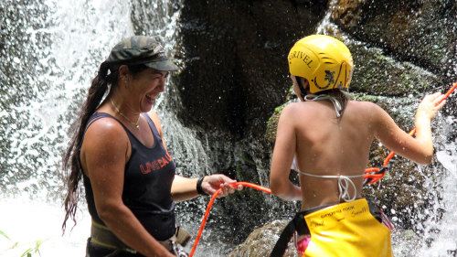 River Kayak & Waterfall Rappeling