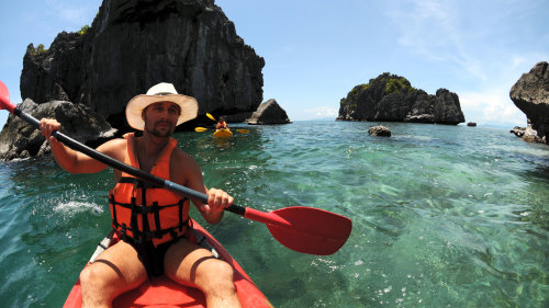 Sea Kayaking at Ang Thong Marine Park by Tour East Thailand