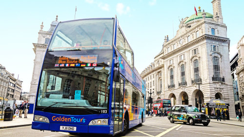 Hop-On Hop-Off Bus Tour & Thames Cruise by GoldenTours