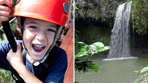 Zipline & Waterfall Hike Combo Adventure