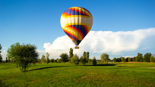 Hot Air Balloon Flight over Lombardy