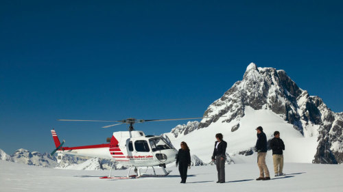 Milford Sound Flight & Beach Landing by Glacier Southern Lakes Helicopters