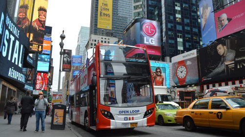 Hop-on Hop-off Double-Decker Sightseeing Bus Pass by Open Loop