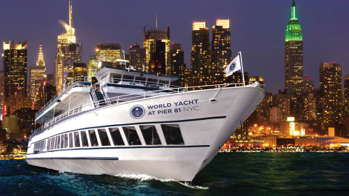 Hudson River Cruise On World Yacht With Course Dinner - United states river cruises