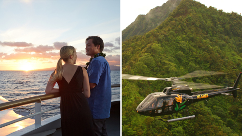 Sunset Buffet Dinner Cruise & Helicopter Tour