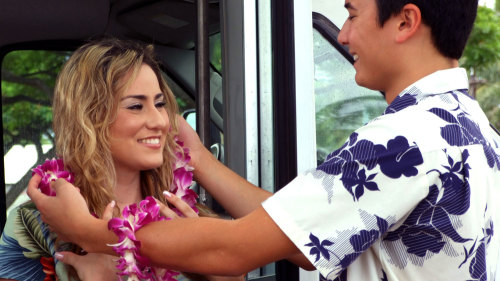 Traditional hawaiian lei greeting upon airport arrival m4hsunfo