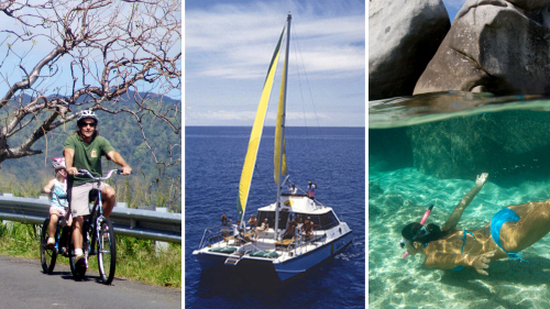 Bike, Hike, Sail & Snorkel Full-Day Adventure