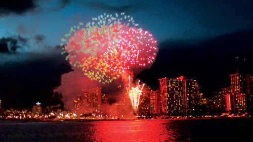 July 4th Fireworks & Pupu Cruise from Kewalo Harbor
