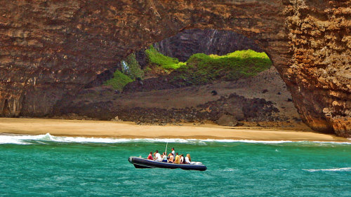 Na Pali Coast Rafting with Beach Landing & Snorkeling