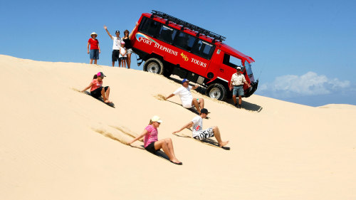 Port Stephens Day Tour with Dolphin Cruise & Sandboarding