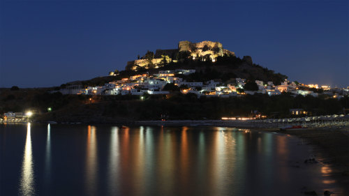 Rhodes by Night Tour with Dinner & Cruise