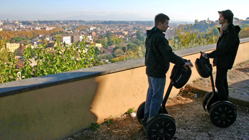 Trastevere Quarter Segway Tour with Lunch by Rome by Segway