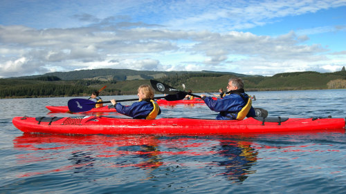 Guided Kayak Tour to Manupirua Hot Pools & Glowworm Caves
