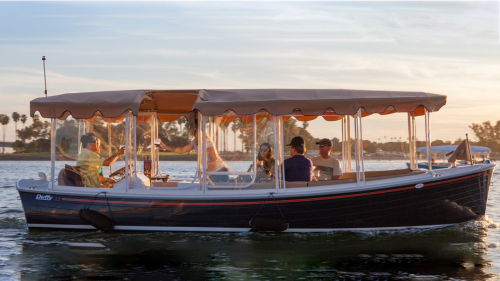 Electric Boat Charter with Wine & Snacks by Duffy of San Diego