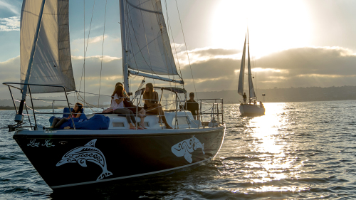Private Sunset Sailboat Cruise for a Group by San Diego Sailing Tours
