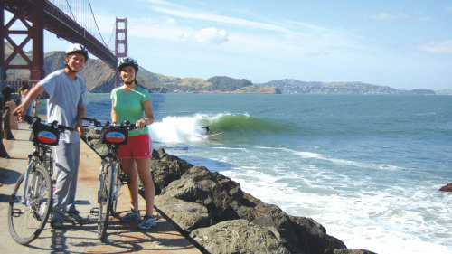 Guided Bike Ride Over the Golden Gate Bridge to Sausalito by Blazing Saddles