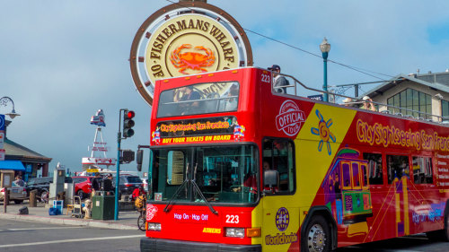 Alcatraz Cruise & Hop-On Hop-Off Tour by City Sightseeing