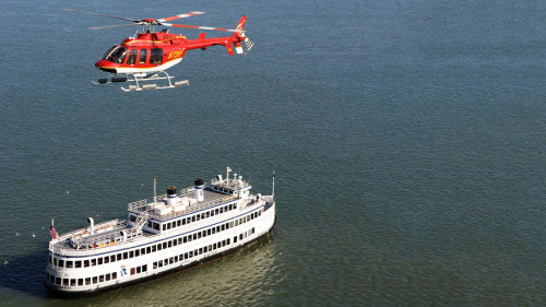 Flight & Sunset Dinner Cruise by San Francisco Helicopter Tours