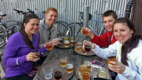 Beers & Bikes Tour with Alcatraz Admission by Gears & Grapes Getaways