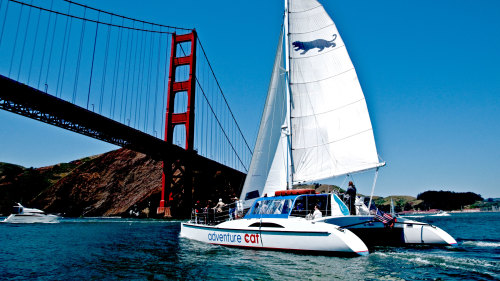 Sailing on the Bay by Adventure Cat Sailing Charters