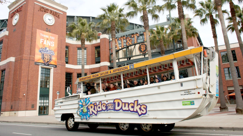 Ride the Ducks City Tour with Visit to Aquarium of the Bay & Alcatraz
