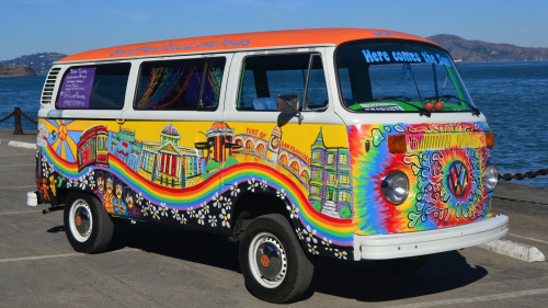 Hippie Volkswagen Bus City Tour by San Francisco Love Tours