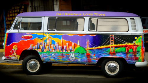 City Lights by Night Volkswagen Bus Tour by San Francisco Love Tours