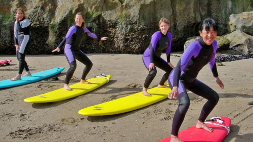 Beginner Surfing Lessons by Adventure Out