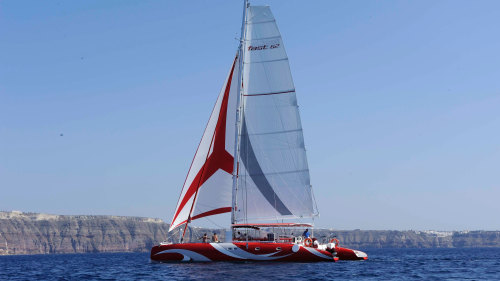 Catamaran Caldera Cruise with Barbecue by Santorini Sailing