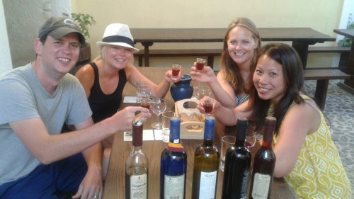Small-Group Wine Tour & Aegean Cruise Day Trip