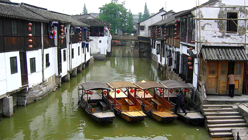 Seven Treasure Town & Zhujiajiao Water Village Tour