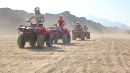 Quad Biking in the Egyptian Desert