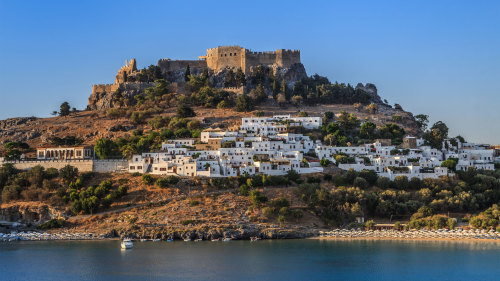 Full-Day Boat Cruise from Lindos Bay to Agathi Beach with Lunch